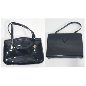 Handbags - 2 Black dress purses doctor bags night handbag